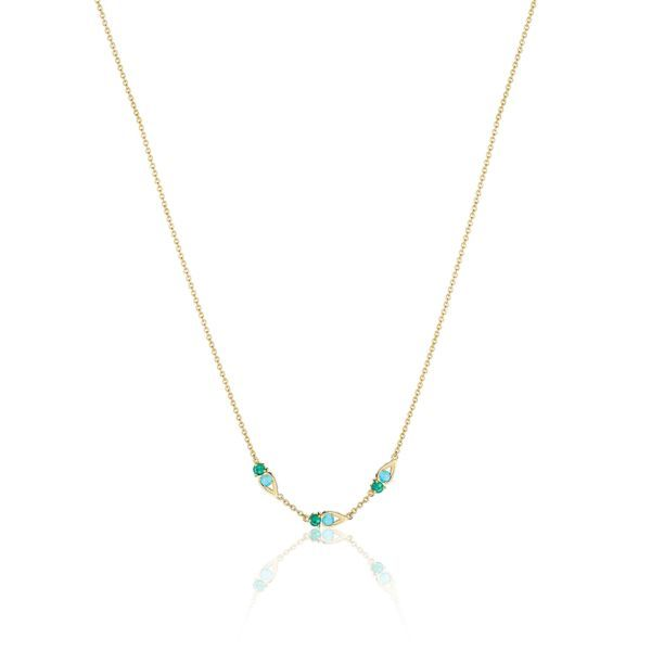 Turquoise and Green Onyx Tacori Necklace Peter & Co. Jewelers Avon Lake, OH