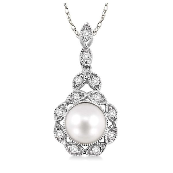 Diamond and Pearl Pendant Peter & Co. Jewelers Avon Lake, OH