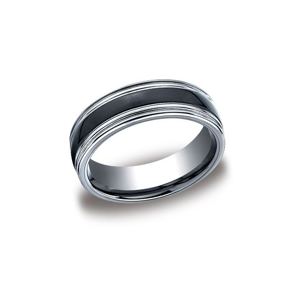 7mm Tungsten and Ceramic Band Peter & Co. Jewelers Avon Lake, OH