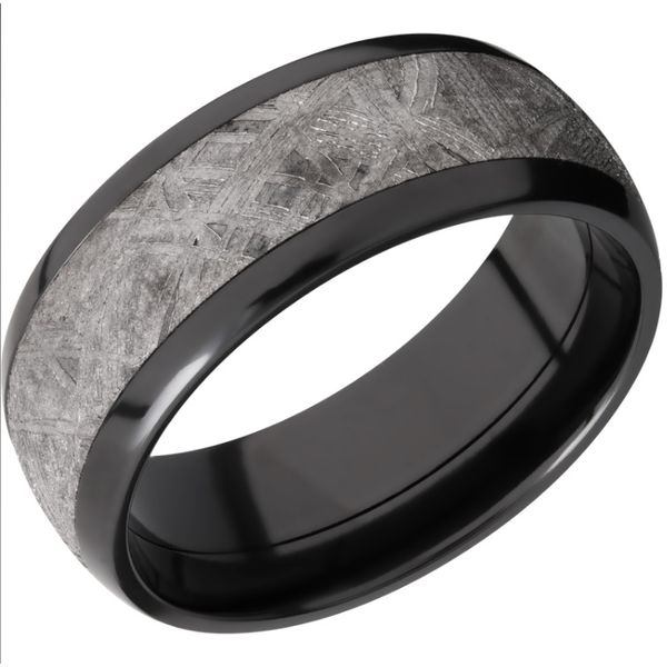 8mm Zirconium and Meteorite Band Peter & Co. Jewelers Avon Lake, OH