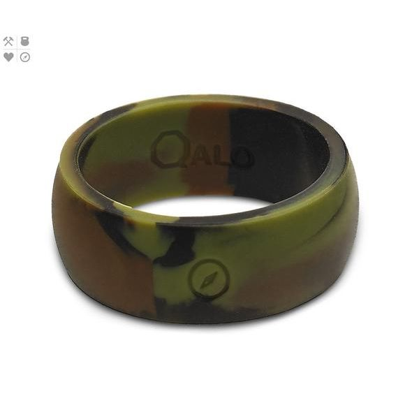 Size 11 Qalo Wide Camo Silicone Ring Peter & Co. Jewelers Avon Lake, OH