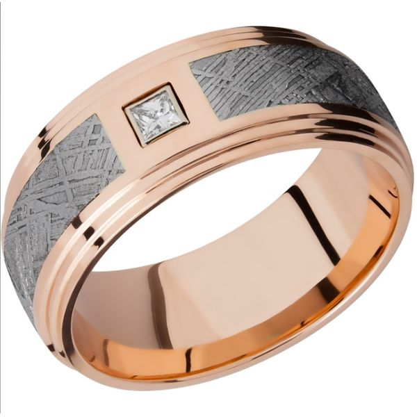 9mm Rose Gold and Meteorite Band Peter & Co. Jewelers Avon Lake, OH