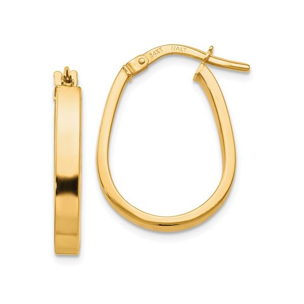 Yellow Gold Hoop Earrings Peter & Co. Jewelers Avon Lake, OH