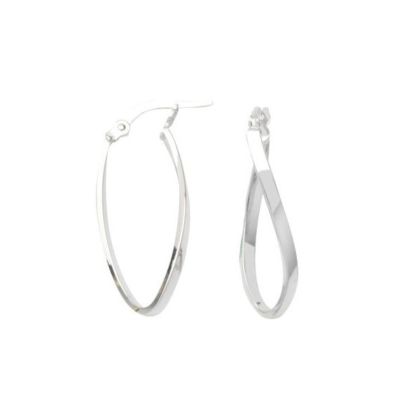 Curved Hoop Earrings Peter & Co. Jewelers Avon Lake, OH