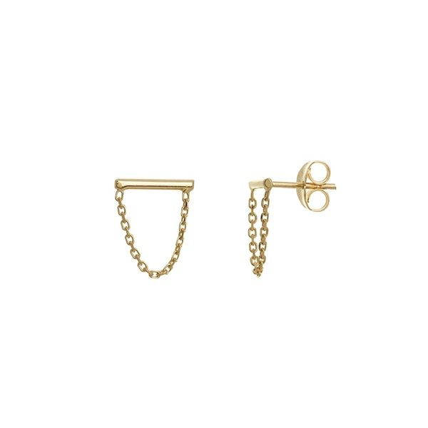 Small Bar and Drape Chain Earrings Peter & Co. Jewelers Avon Lake, OH