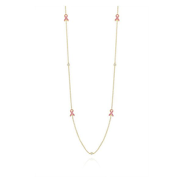 Pink Ribbon Station Necklace Peter & Co. Jewelers Avon Lake, OH
