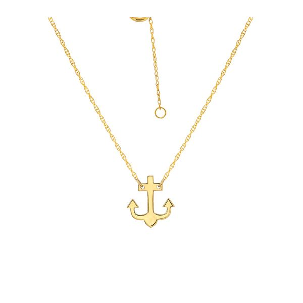 Mini Anchor Necklace Peter & Co. Jewelers Avon Lake, OH