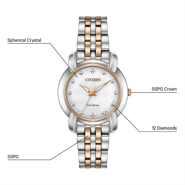 Citizen Jolie Diamond Eco-Drive Ladies Watch Image 3 Peter & Co. Jewelers Avon Lake, OH