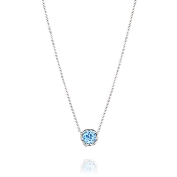 Sky Blue Topaz Crescent Station Tacori Necklace Peter & Co. Jewelers Avon Lake, OH