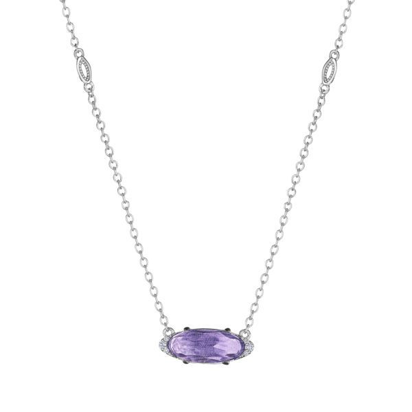 Solitaire Amethyst Tacori Necklace Peter & Co. Jewelers Avon Lake, OH