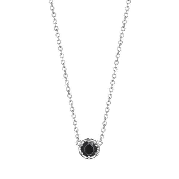 Black Onyx Crescent Station Tacori Necklace Peter & Co. Jewelers Avon Lake, OH