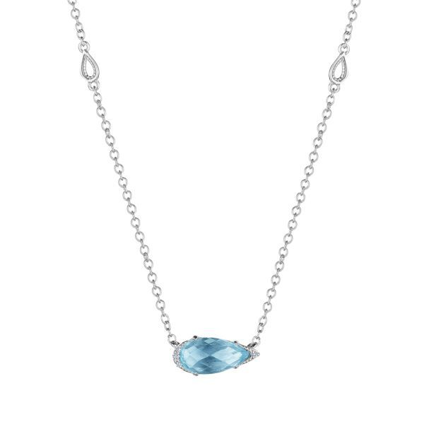 Solitaire Blue Topaz Tacori Necklace Peter & Co. Jewelers Avon Lake, OH