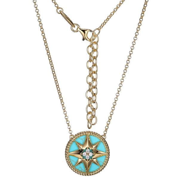 Turquoise Compass Rose Necklace Peter & Co. Jewelers Avon Lake, OH