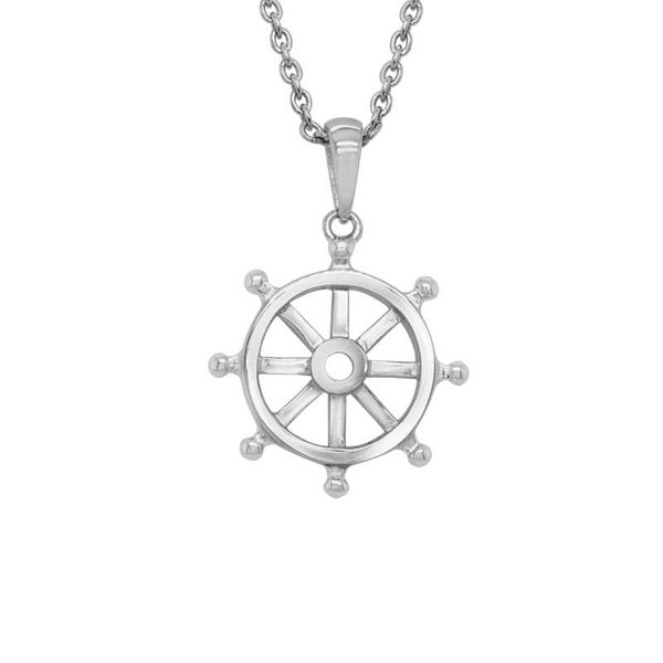 Ships Wheel Pendant Necklace Peter & Co. Jewelers Avon Lake, OH