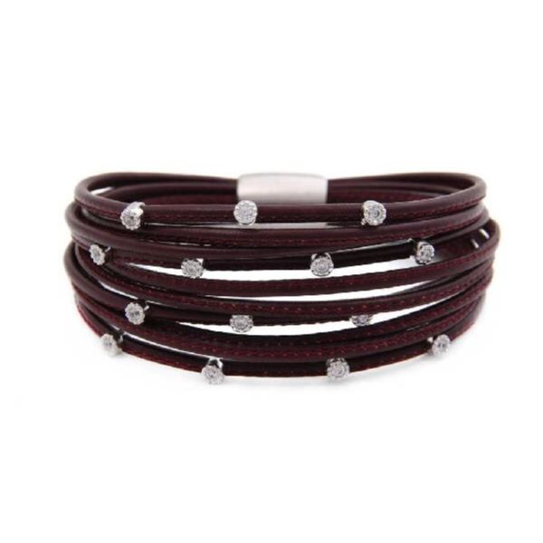 Burgandy Leather Luca Bracelet Peter & Co. Jewelers Avon Lake, OH