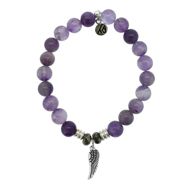 Angel Wing Amethyst Bead Bracelet Peter & Co. Jewelers Avon Lake, OH