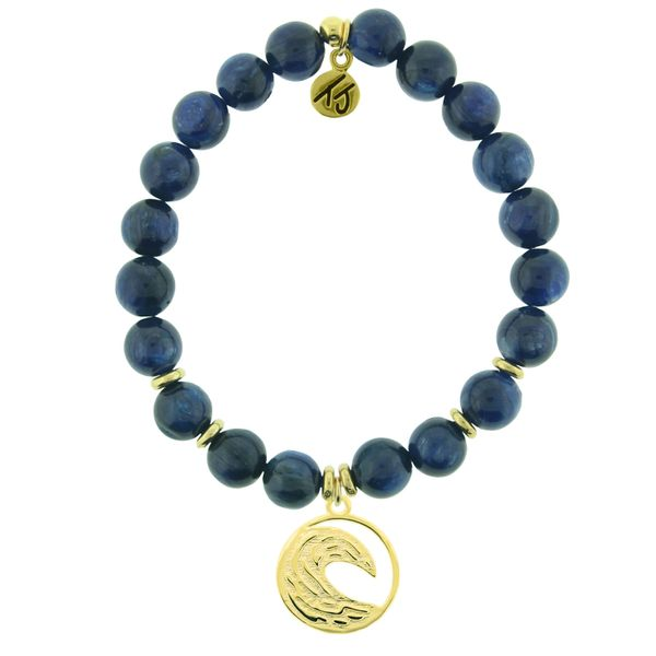 Gold Crest Wave Kyanite Bead Bracelet Peter & Co. Jewelers Avon Lake, OH