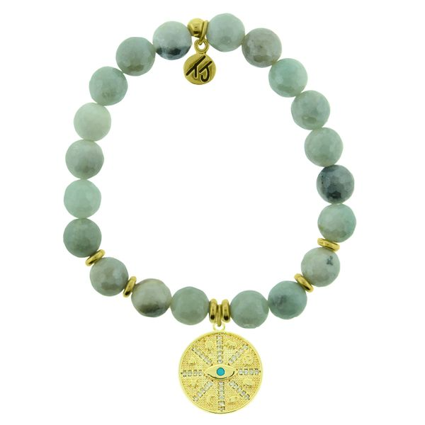 Gold Protection Faceted Amazonite Bead Bracelet Peter & Co. Jewelers Avon Lake, OH