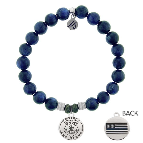 Protect and Serve Kyanite Bead Bracelet Peter & Co. Jewelers Avon Lake, OH