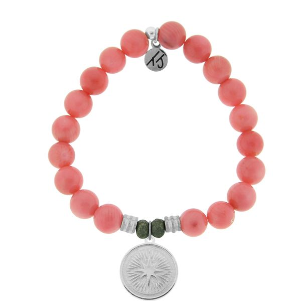 Guidance Pink Coral Bead Bracelet Peter & Co. Jewelers Avon Lake, OH