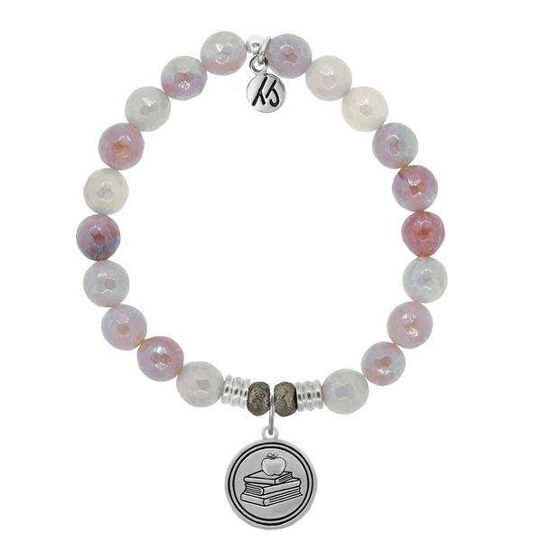 Teacher Sunstone Bead Bracelet Peter & Co. Jewelers Avon Lake, OH