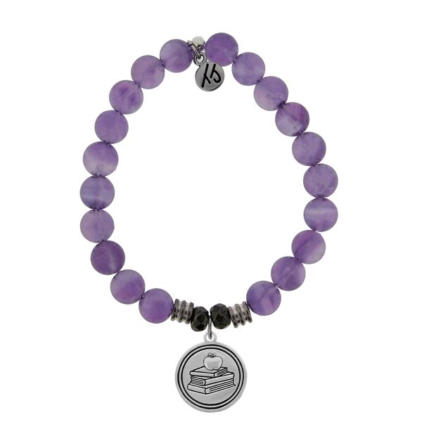 Teacher Amethyst Bead Bracelet Peter & Co. Jewelers Avon Lake, OH
