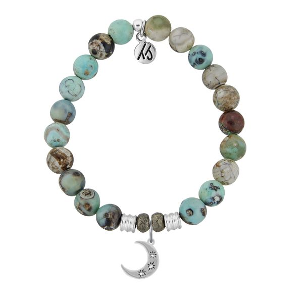 Friendship Stars Turquoise Jasper Bead Bracelet Peter & Co. Jewelers Avon Lake, OH