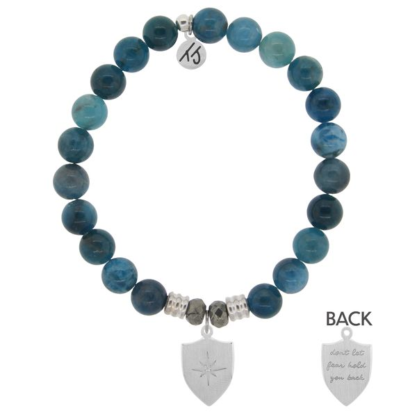 Shield Of Strength Arctic Apatite Bead Bracelet Peter & Co. Jewelers Avon Lake, OH