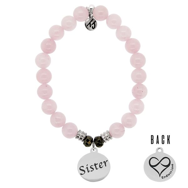 Sister Rose Quartz Bead Bracelet Peter & Co. Jewelers Avon Lake, OH
