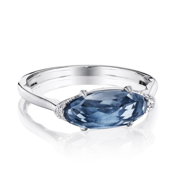 Solitaire London Blue Topaz Tacori Ring Peter & Co. Jewelers Avon Lake, OH