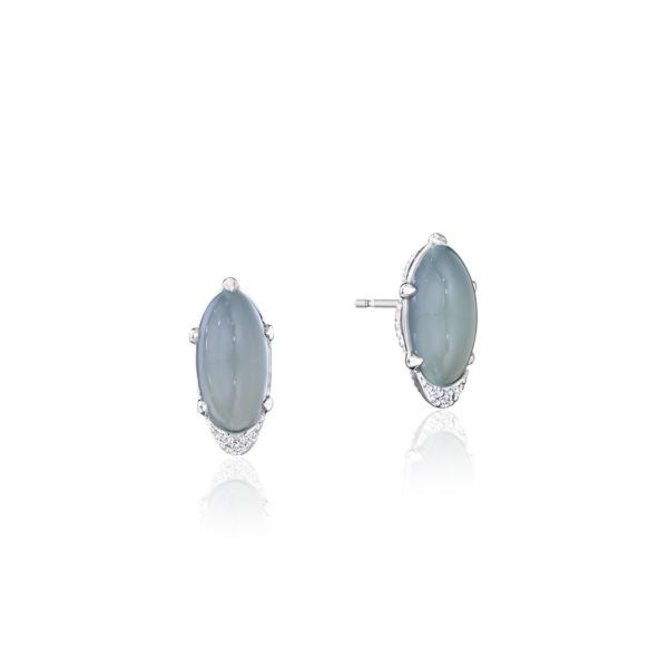 Solitaire Sea Green Chalcedony Tacori Earrings Peter & Co. Jewelers Avon Lake, OH