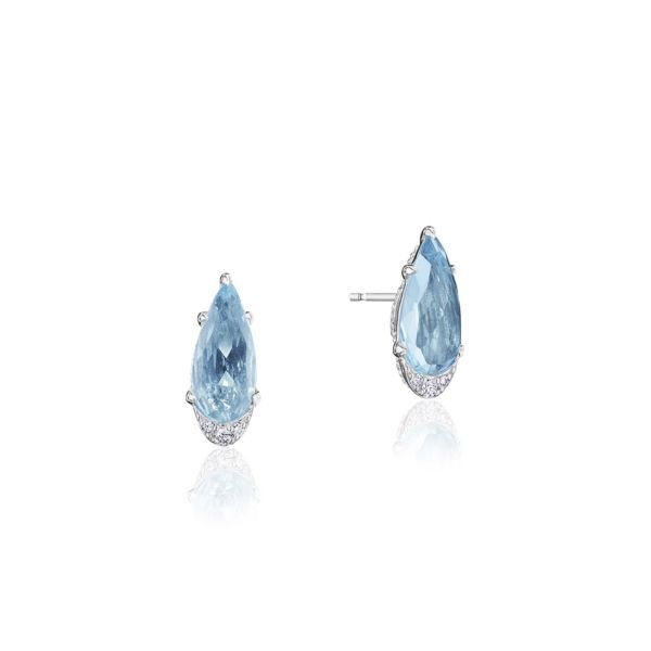 Sky Blue and Diamond Tacori Earrings Peter & Co. Jewelers Avon Lake, OH