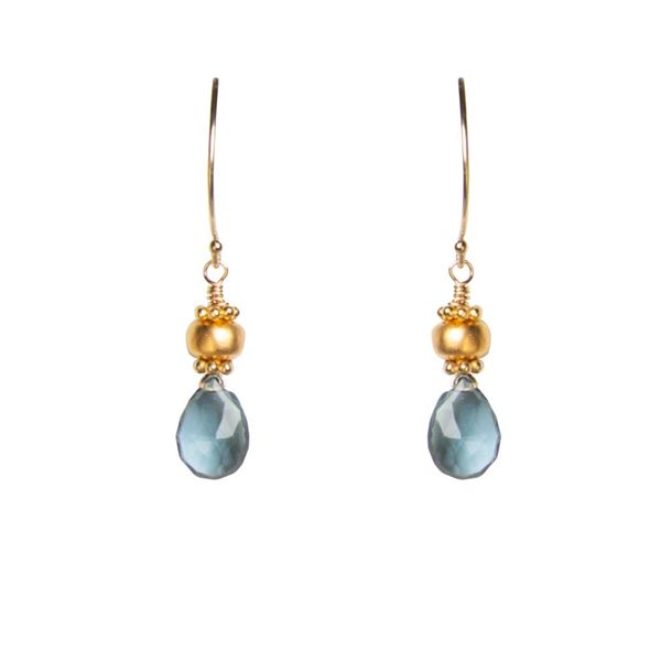Blue Quartz Drop Earrings by Tracy Arrington Peter & Co. Jewelers Avon Lake, OH