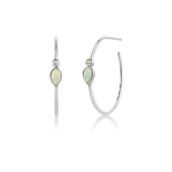 Opal Colour Raindrop Ania Haie Hoop Earrings Peter & Co. Jewelers Avon Lake, OH