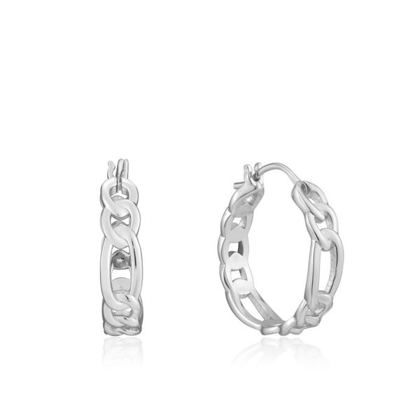 Figaro Chain Ania Haie Hoop Earrings Peter & Co. Jewelers Avon Lake, OH