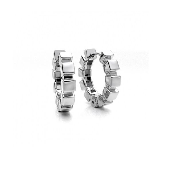 Silver Cubes Hoop Earrings Peter & Co. Jewelers Avon Lake, OH