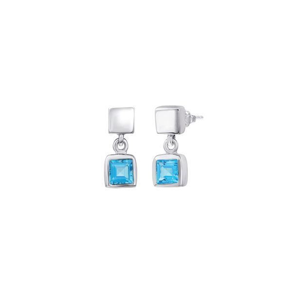 Blue Topaz Drop Earrings Peter & Co. Jewelers Avon Lake, OH
