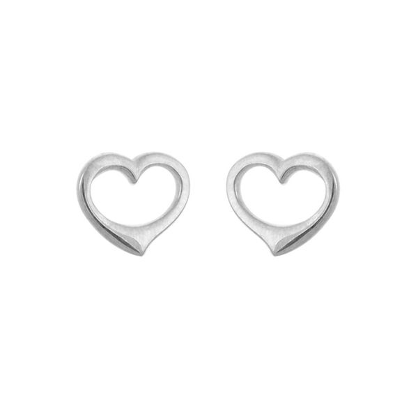 Open Heart Stud Earrings Peter & Co. Jewelers Avon Lake, OH