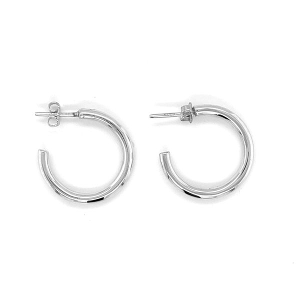 Silver Hoop Earrings Image 2 Peter & Co. Jewelers Avon Lake, OH