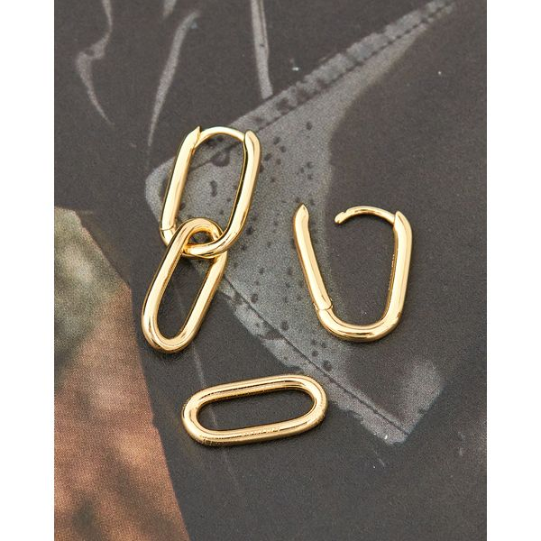 Cable Link Ania Haie Earrings Image 3 Peter & Co. Jewelers Avon Lake, OH