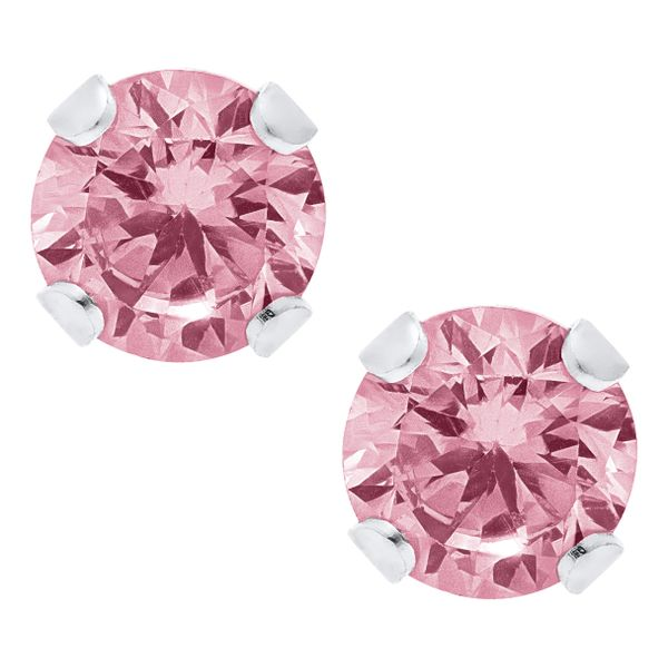 Pink Cubic Zirconia Studs Peter & Co. Jewelers Avon Lake, OH