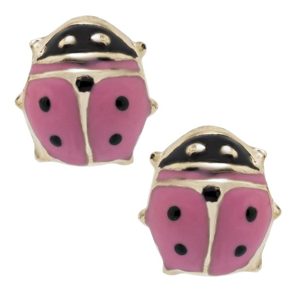 Pink Ladybug Children's Earrings Peter & Co. Jewelers Avon Lake, OH