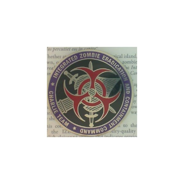 Integrated Zombie Eradication & Containment Command Challenge Coin