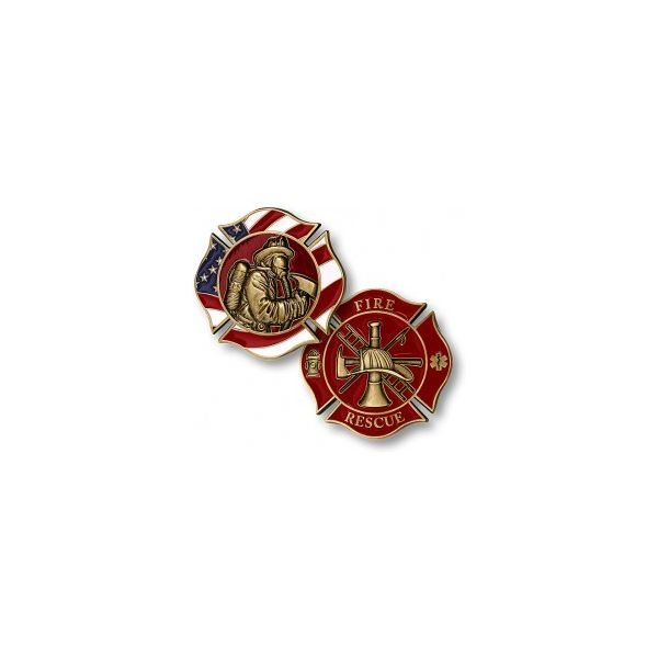 Firefighter In Mask Challenge Coin Pineforest Jewelry, Inc. Houston, TX