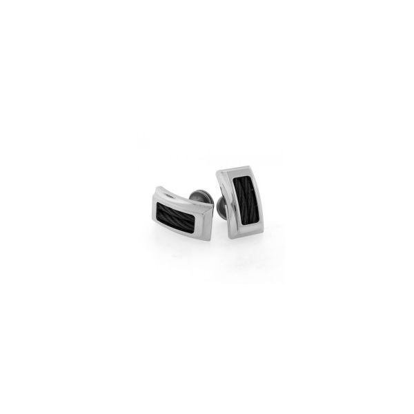 Boulevard Steel Cable Cufflinks Pineforest Jewelry, Inc. Houston, TX