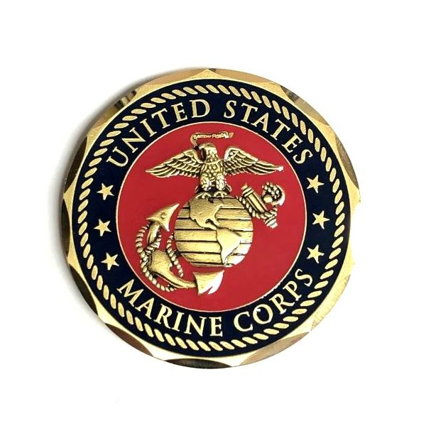 US Marine Corps Retired Challenge Coin Pineforest Jewelry, Inc. Houston, TX