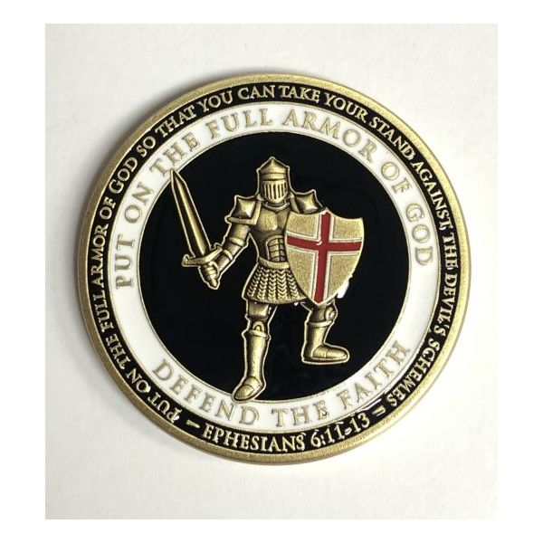 Armor Of God Challenge Coin Pineforest Jewelry, Inc. Houston, TX