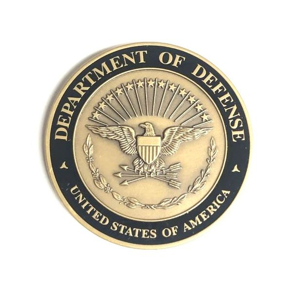 Department of Defense Armor of God Challenge Coin Pineforest Jewelry, Inc. Houston, TX
