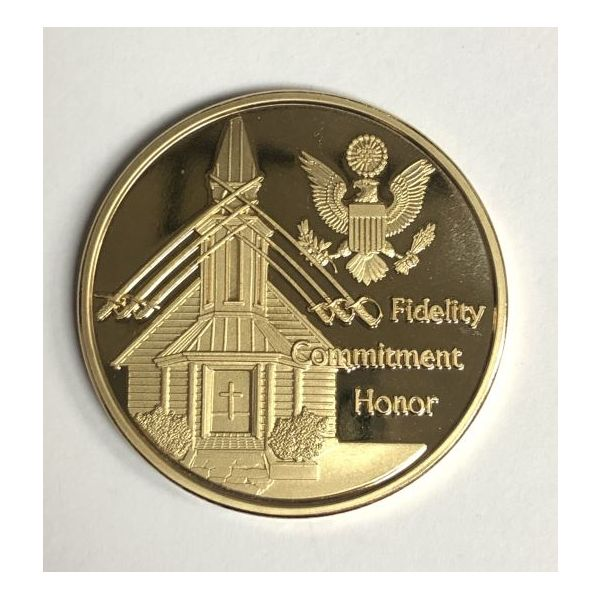 Fidelity, Commitment, and Honor Challenge Coin Pineforest Jewelry, Inc. Houston, TX