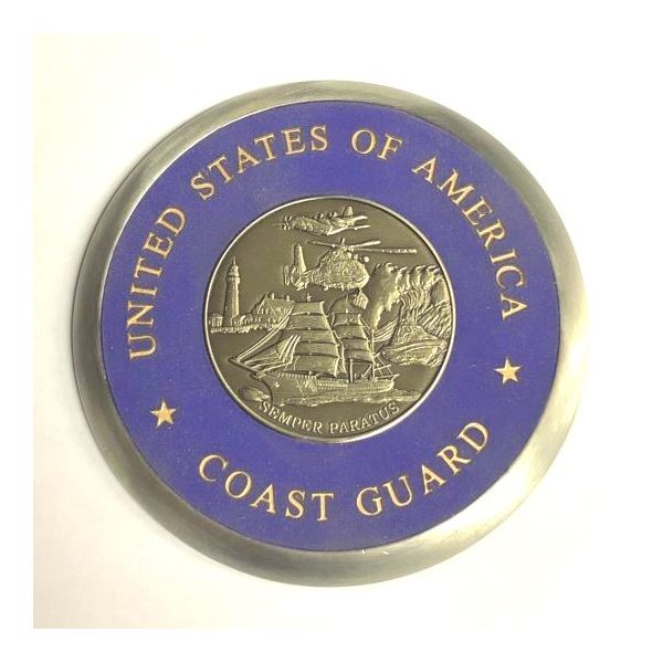 USA Coast Guard Coaster Pineforest Jewelry, Inc. Houston, TX
